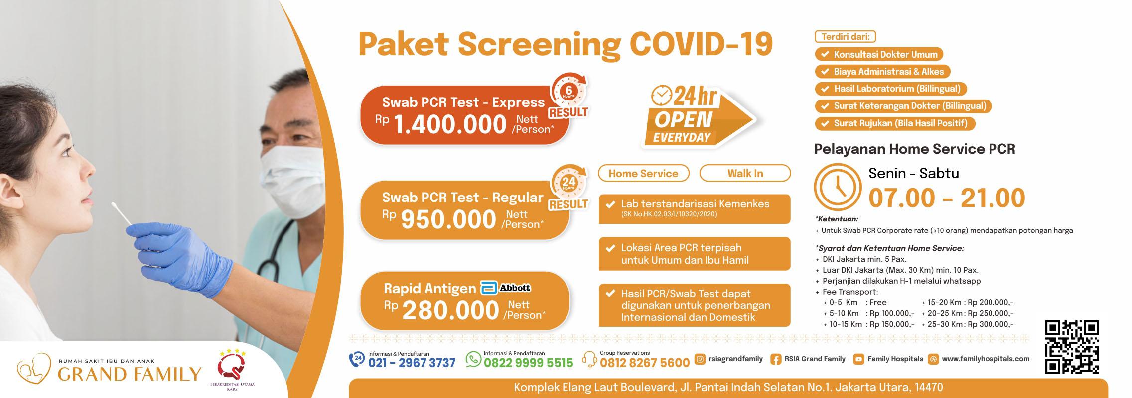 Paket Screening COVID-19